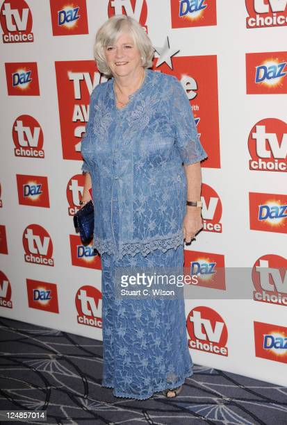 Anne Widdecombe attends the TVChoice Awards at The Savoy Hotel on September 13 2011 in London England
