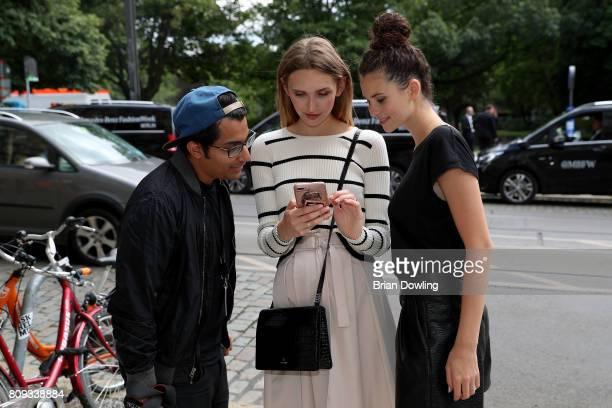 Anne Wilken and Betty Taube attend the Rebekka Ruetz show during the MercedesBenz Fashion Week Berlin Spring/Summer 2018 at Kaufhaus Jandorf on July...