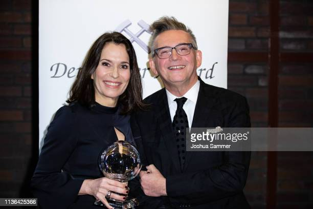 Anne Will and Goetz Alsmann attend the 14th Steiger Award at Zeche Hansemann on March 16 2019 in Dortmund Germany