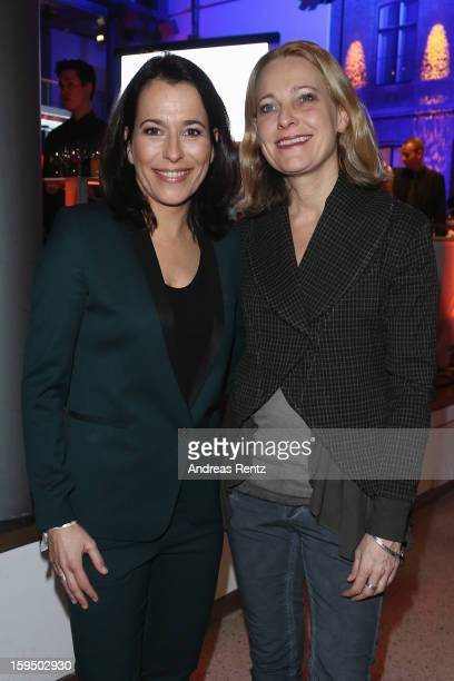 Anne Will and Miriam Meckel attend the '8 Nacht der Sueddeutschen Zeitung' at Deutsche Telekom representative office on January 14 2013 in Berlin...