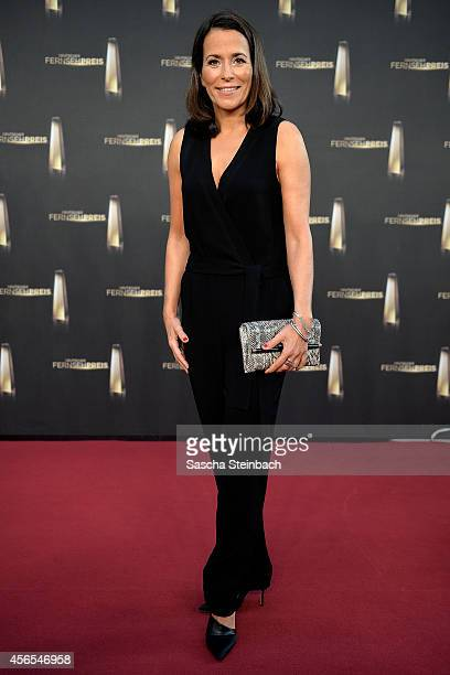 Anne Will arrives at the Deutscher Fernsehpreis 2014 at Coloneum on October 2 2014 in Cologne Germany