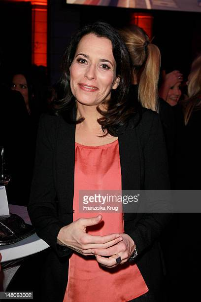 Anne Will attends 'ARD Degeto Blue Hour' Party in the Museum of communication in Berlin on February 11 2012 in Berlin Germany