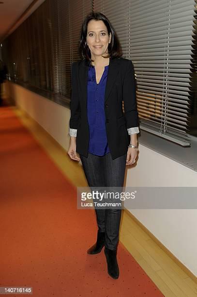 Anne Will attends the book Release Nachrichtenzeit at the Dussmann store on March 5 2012 in Berlin Germany
