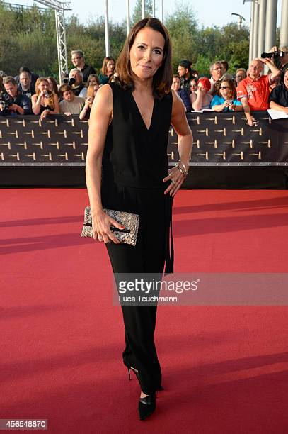Anne Will attends the red carpet of the Deutscher Fernsehpreis 2014 at Coloneum on October 2 2014 in Cologne Germany
