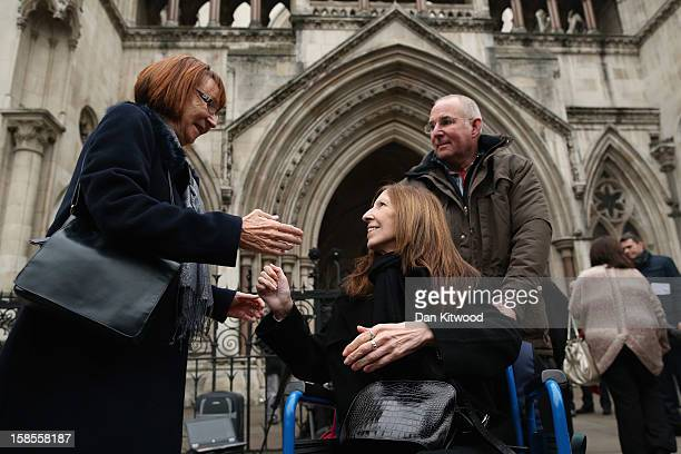 Anne Williams who lost her son Kevin in the Hillsborough Disaster arrives at the High Court on December 19 2012 in London England An application...