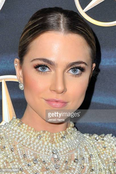 Anne Winters arrives at MercedezBenz USA's Official Awards Viewing Party at Four Seasons Hotel on March 4 2018 in Beverly Hills California