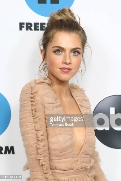 Anne Winters attends the Disney ABC Television Hosts TCA Winter Press Tour 2019 at The Langham Huntington Hotel and Spa on February 05 2019 in...