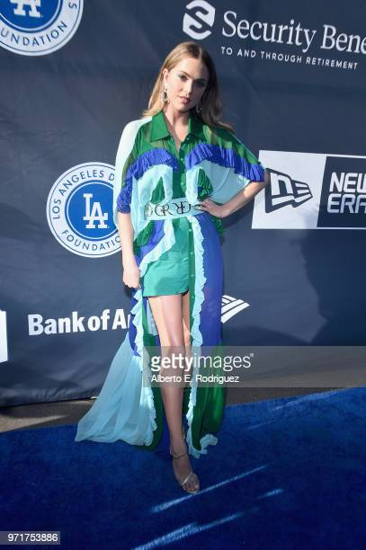 Anne Winters attends the fourth annual Los Angeles Dodgers Foundation Blue Diamond gala at Dodger Stadium on June 11 2018 in Los Angeles California