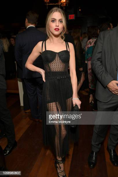 Anne Winters attends The Hollywood Reporter's Next Gen 2018 Celebration at 40 LOVE on November 7 2018 in Los Angeles California