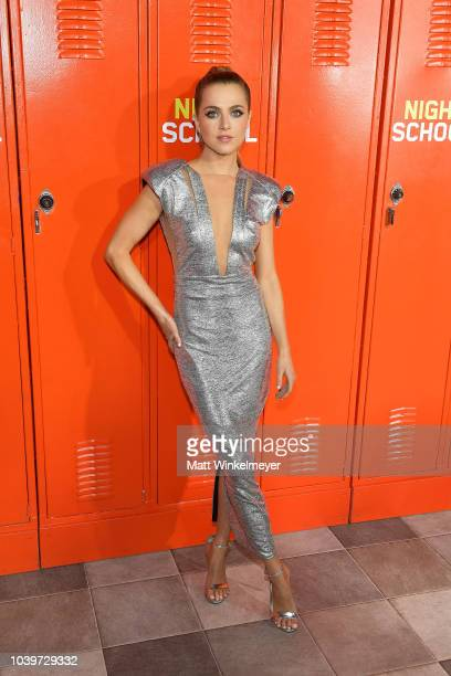 Anne Winters attends the premiere of Universal Pictures' 'Night School' on September 24 2018 in Los Angeles California
