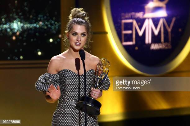 Anne Winters on stage during the 45th Annual Daytime Creative Arts Emmy Awards at Pasadena Civic Auditorium on April 27 2018 in Pasadena California