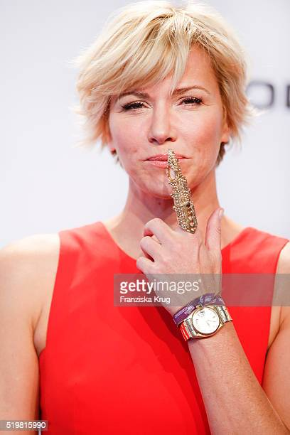 Anne Wis attends the Koenig Pilsener At Echo Award 2016 on April 07 2016 in Berlin Germany