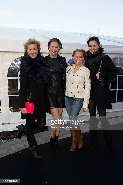Anne Wis Monica Ivancan Nova Meierhenrich and Judith Berger attend the Different Fashion Party 2015 on April 2 2015 in Sylt Germany
