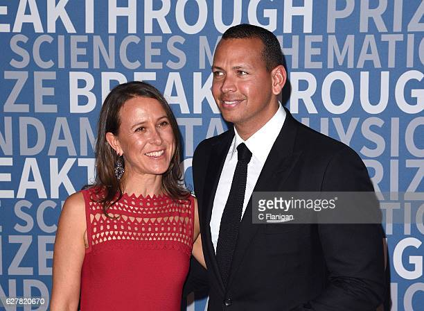 Anne Wojcicki and Alex Rodriguez attend Breakthrough Prize at NASA Ames Research Center on December 4 2016 in Mountain View California
