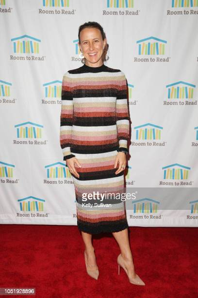 Anne Wojcicki attends Room To Read 2018 International Day Of The Girl Benefit at One Kearny Club on October 11 2018 in San Francisco California