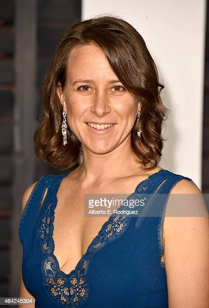 Anne Wojcicki attends the 2015 Vanity Fair Oscar Party hosted by Graydon Carter at Wallis Annenberg Center for the Performing Arts on February 22...