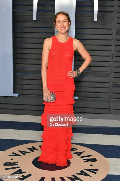 Anne Wojcicki attends the 2018 Vanity Fair Oscar Party hosted by Radhika Jones at Wallis Annenberg Center for the Performing Arts on March 4 2018 in...