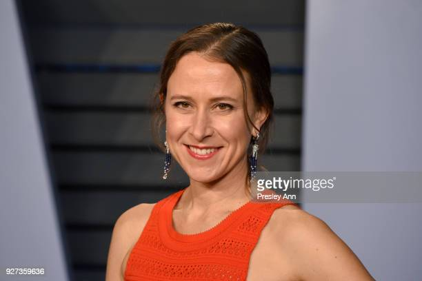Anne Wojcicki attends the 2018 Vanity Fair Oscar Party Hosted By Radhika Jones Arrivals at Wallis Annenberg Center for the Performing Arts on March 4...