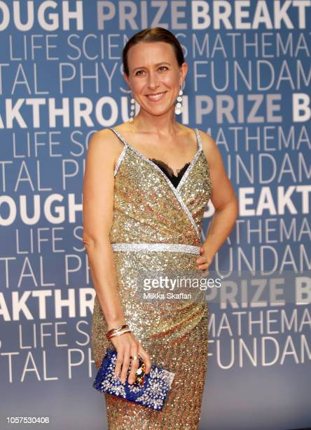 Anne Wojcicki attends the 2019 Breakthrough Prize at NASA Ames Research Center on November 4 2018 in Mountain View California