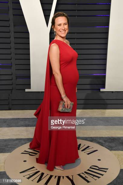 Anne Wojcicki attends the 2019 Vanity Fair Oscar Party hosted by Radhika Jones at Wallis Annenberg Center for the Performing Arts on February 24 2019...