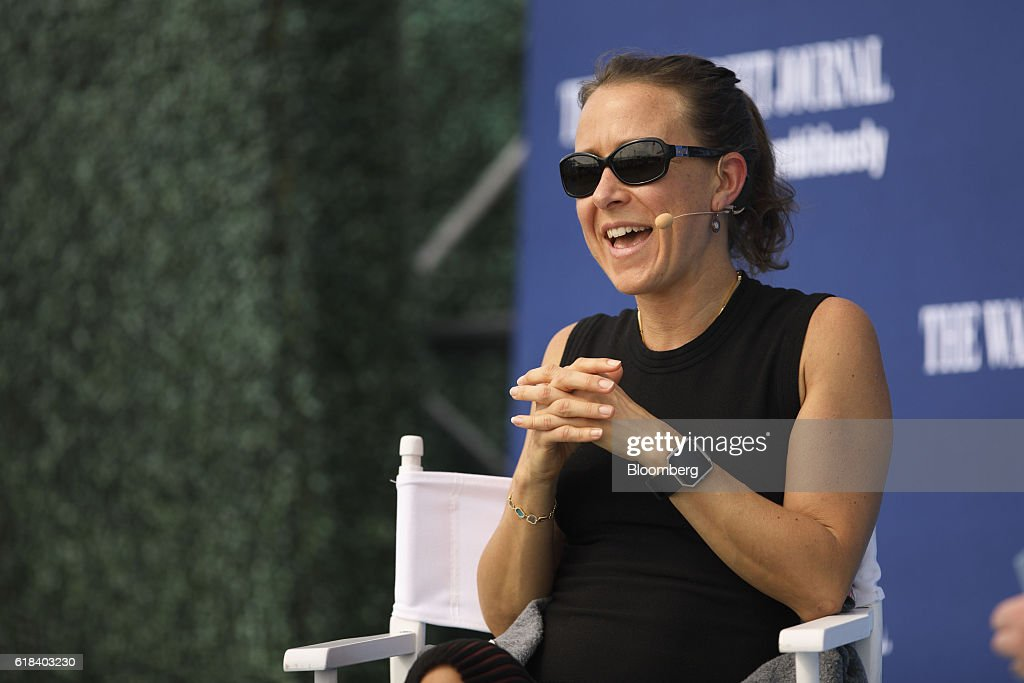 Anne Wojcicki, chief executive officer and co-founder of 23andMe Inc., speaks during the WSJDLive Global Technology Conference in Laguna Beach, California, U.S., on Wednesday, Oct. 26, 2016. The conference brings together an unmatched group of top CEOs, founders, pioneers, investors and luminaries to explore tech opportunities emerging around the world. Photographer: Patrick T. Fallon/Bloomberg via Getty Images