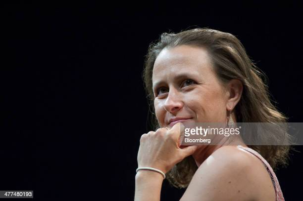 Anne Wojcicki cofounder and chief executive officer of 23andMe pauses during a keynote session at the South By Southwest Interactive Festival in...