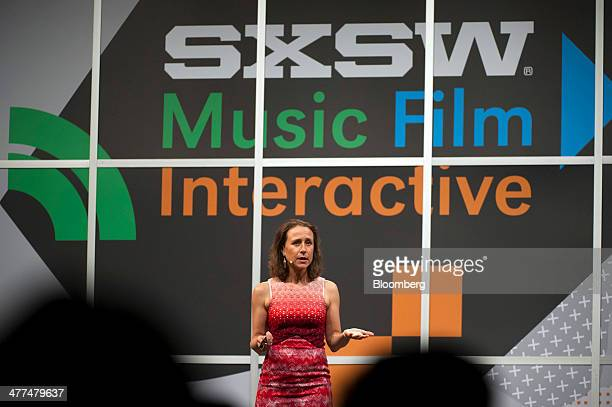 Anne Wojcicki cofounder and chief executive officer of 23andMe speaks during a keynote session at the South By Southwest Interactive Festival in...