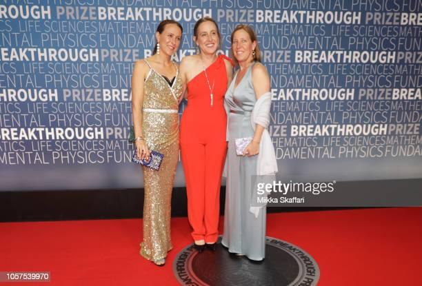 Anne Wojcicki Janet Wojcicki and Susan Wojcicki attend the 2019 Breakthrough Prize at NASA Ames Research Center on November 4 2018 in Mountain View...