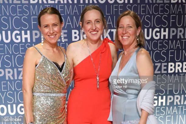 Anne Wojcicki Janet Wojcicki and Susan Wojcicki attend the 7th Annual Breakthrough Prize Ceremony at NASA Ames Research Center on November 4 2018 in...