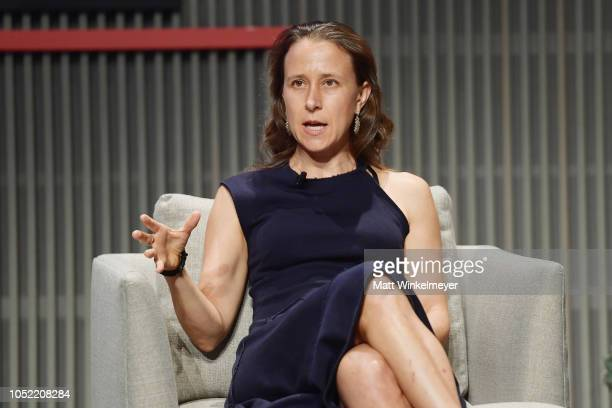 Anne Wojcicki speaks onstage at WIRED25 Summit WIRED Celebrates 25th Anniversary With Tech Icons Of The Past Future on October 15 2018 in San...
