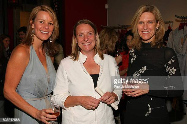 Anne Wolf Petra Vanverkaaij and Jane FrankeMolner attend Chamber Dance Project Spring Cocktail Benefit Hosted By Vivienne Tam at Vivienne Tam Store...