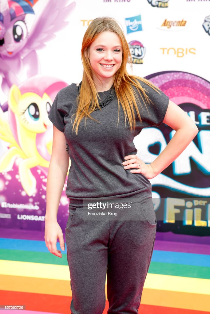 Anne Wuensche attends the 'My little Pony' Premiere at Zoo Palast on October 3, 2017 in Berlin, Germany.