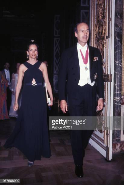 AnneAymone et Valéry Giscard d'Estaing lors d'une soirée le 16 mai 1972