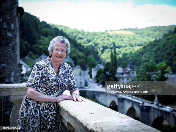 AnneAymone Giscard d'Estaing is photographed for Paris Match at home in Aveyron France on June 29 2018