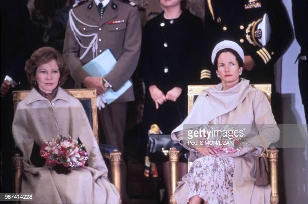 AnneAymone Giscard d'Estaing lors du sommet des pays industrialisés à Rambouillet le 16 novembre 1975 France