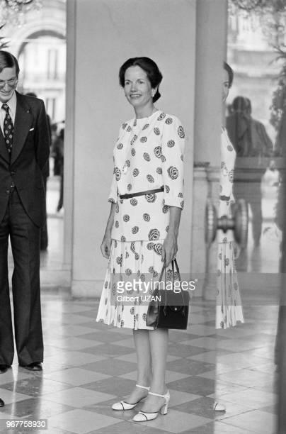 AnneAymone Giscard d'Estaing lors d'une réception afficielle au Palais de l'Elysée à Paris le 26 juin 1974 France