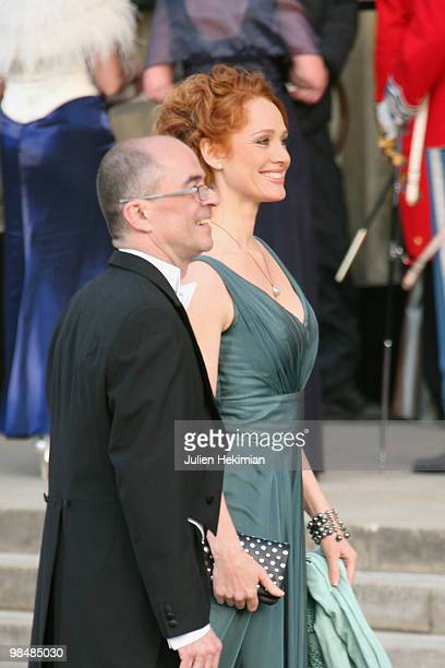 Anne-Birgitte Lind and Emmet Feigenberg attend the Gala Performance in celebration of Queen Margrethe's 70th Birthday on April 15, 2010 in...