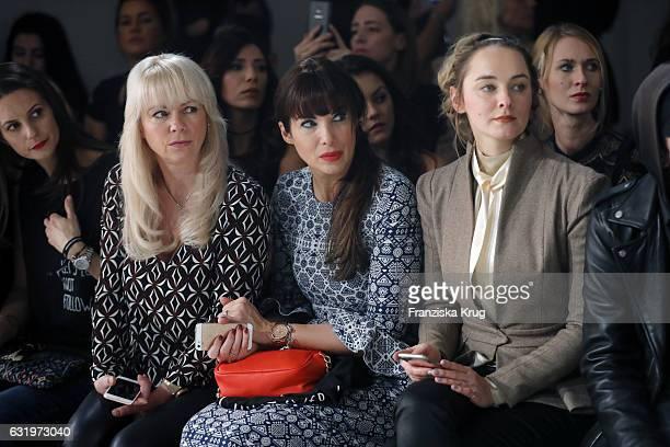 Anne-Catrin Maerzke and Alexanda Polzin attend the Rebekka Ruetz show during the Mercedes-Benz Fashion Week Berlin A/W 2017 at Kaufhaus Jandorf on...