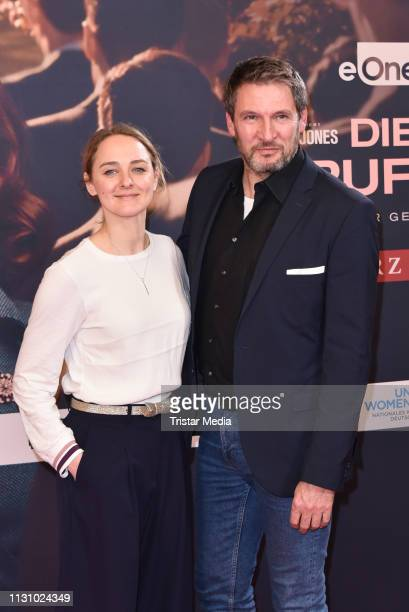 "Anne-Catrin Maerzke and Dieter Bach during the photocall for the film ""Die Berufung"" on February 20, 2019 in Berlin, Germany."