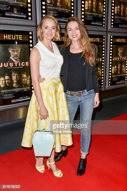 AnneCatrin Maerzke and Josephin Busch during the premiere of 'Justice' at Kino in der Kulturbrauerei on June 13 2018 in Berlin Germany