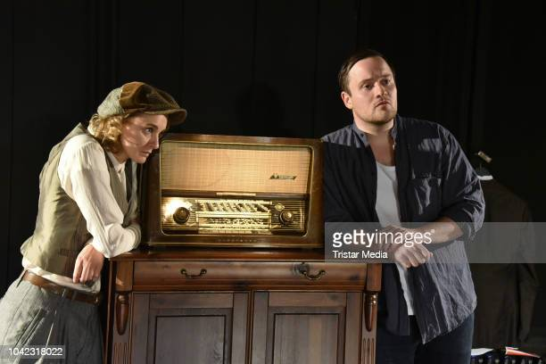 AnneCatrin Maerzke and Lorris Andre Blazejewski during the rehearsal for the play 'Empfaenger unbekannt' at Theater Unterm Dach on September 26 2018...