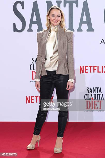 Anne-Catrin Maerzke arrives at the premiere of Netflix's Santa Clarita Diet at CineStar on January 20, 2017 in Berlin, Germany.