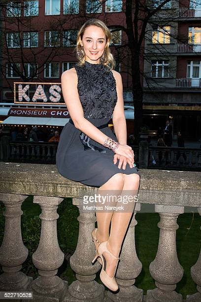 AnneCatrin Maerzke attends the Berlin photo call of the movie Monsieur Chocolat on April 20 2016 in Berlin Germany