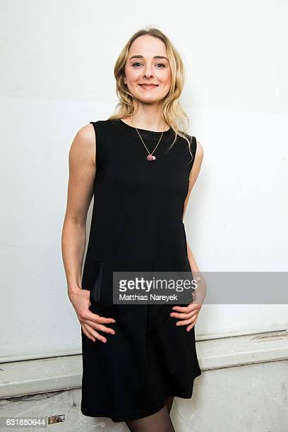 AnneCatrin Maerzke attends the holyGhost show during the MercedesBenz Fashion Week Berlin A/W 2017 at Kaufhaus Jandorf on January 17 2017 in Berlin...