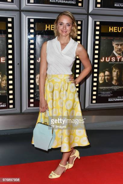 Anne-Catrin Maerzke attends the premiere of 'Justice' at the cinema in the Kulturbrauerei on June 13, 2018 in Berlin, Germany.