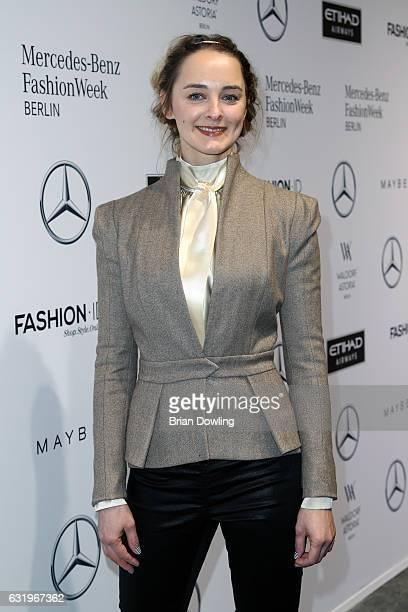 AnneCatrin Maerzke attends the Rebekka Ruetz show during the MercedesBenz Fashion Week Berlin A/W 2017 at Kaufhaus Jandorf on January 18 2017 in...