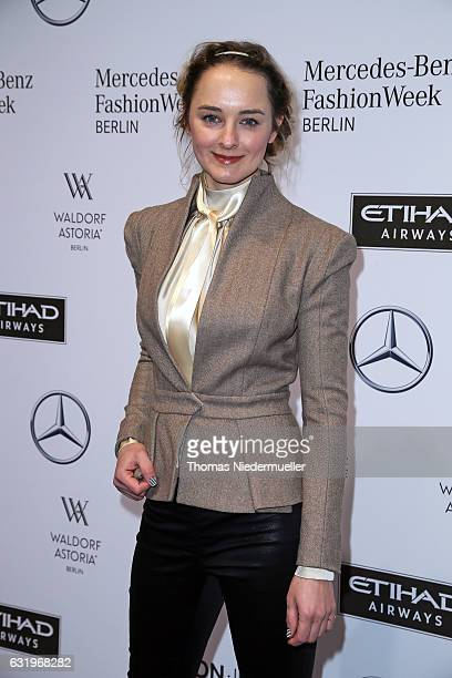 AnneCatrin Maerzke attends the Rebekka Ruetz show during the MercedesBenz Fashion Week Berlin A/W 2017 at Kaufhaus Jandorf on January 18 2017 in...
