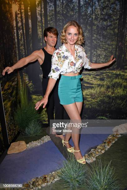 AnneCatrin Maerzke during the 'Madame Tussauds Berlin goes Dirty Dancing' opening party at Madame Tussauds on July 31 2018 in Berlin Germany