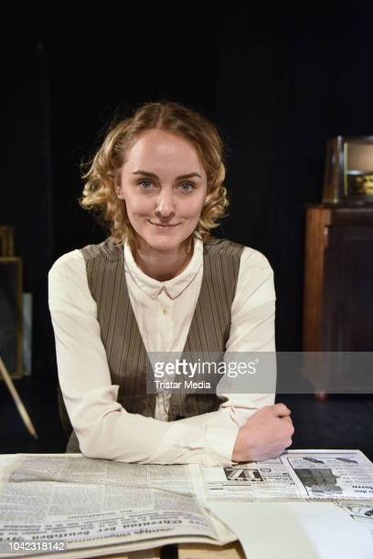 AnneCatrin Maerzke during the rehearsal for the play 'Empfaenger unbekannt' at Theater Unterm Dach on September 26 2018 in Berlin Germany