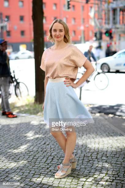 AnneCatrin Maerzke is seen during the MercedesBenz Fashion Week Berlin Spring/Summer 2018 at Kaufhaus Jandorf on July 4 2017 in Berlin Germany